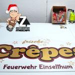 Schild Crepes Einselthumer Weihnachtsmarkt