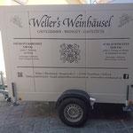 Beschriftung Kühlanhänger Wellers Weinhäusel Einselthum