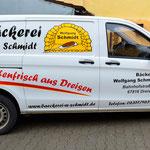 KFZ Beschriftung Bäckerei Schmidt Dreisen
