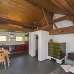 Stüva e chadafö - Wohnzimmer mit Küche