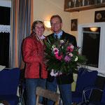 Hans-Egon Düring bedankt sich bei Olga Gosseling für ihre Arbeit!!