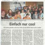 140328 Landeszeitung - Kindernothilfe - Culcha Candela
