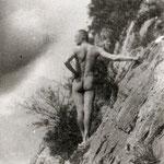 1910 Nacktklettern am Walensee