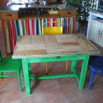 Table cuisine 1 tirroir 68cmx113cm