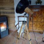 N°99 projecteur sur trépied bois