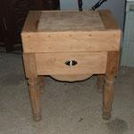 restauration billot de boucher, meuble chiné sans tiroir ni le billot,  fabriqués par la suite