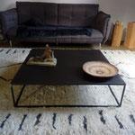 Table basse plateau métal rouillé vendue