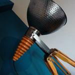 métal poli et bois d'if tourné (vendu)