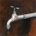 Zeichnung für das LUKS Magazin, 1 Ausgabe »unglaublich laut«, 2012, Pastellstift, ~ 12 x 12 cm