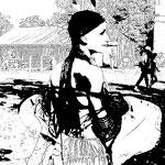 Juliette en Sirène pendant le festival