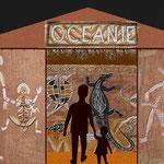 projet, décors inspirés des peintures aborigènes d'Australie