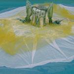 Ophélie, robe flottante conçue pour le site de St Savinien