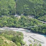 日本一 谷瀬の吊橋