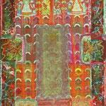 Werknummer 4.6: Mischtechnik und Collage auf Leinwand, 45x130 cm, unverkäuflich