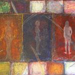 Werknummer 4.1: Mischtechnik und Collage auf Leinwand, 110x168 cm, 2300,- €