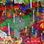 Werknummer 4.7: Mischtechnik und Collage auf Pappe, 50x70 cm, 680,- €