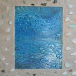 Werknummer 7.6: Mischtechnik u. Collage auf Holz, 60x50 cm, 650,- €