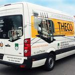 Fahrzeugbeschriftung Theco Recycling Digitaldruck Print & Cut