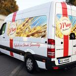 Fahrzeugbeschriftung Bäckerei Mey