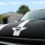 Fahrzeugbeschriftung Scheipers und Scheipers Mini Cooper Detail