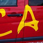 Fahrzeugbeschriftung Casino Coesfeld Restaurant Caterina Service Detail 1