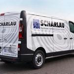 Fahrzeugbeschriftung Ladenbau Scharlau