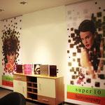 Stoffbedruckung Super 10 Haircompany Interieur Digitaldruck