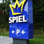 Pylon Werbeanlage Spielstation