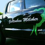 Fahrzeugbeschriftung Gartenbau Melcher
