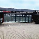 Beschriftung Ladenlokal Radio Lemming Ramsdorf Profilanlage