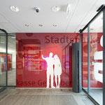 Beschriftung Folierung Eingangsbereich Sparkasse Gevelsberg