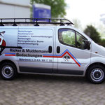Fahrzeugbeschriftung Ricker und Muddemann Bedachungen