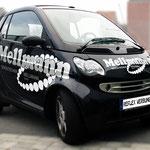 Fahrzeugbeschriftung Smart Dentaltechnik Mellmann