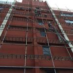さいたま市和田ビル大規模改修工事 足場架設中