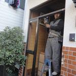 ドア枠の撤去