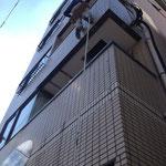 無足場工法でタイル面調査4