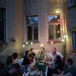 Ein warmer Abend, Reclamstraße 51, Zeichen setzen, Leipziger Osten, Entmietung, Sachsen