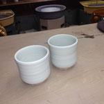 稲岡正順師の陶芸作品の一つ(これから施釉する前の湯呑)