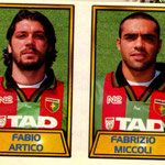 1999-00. Figurine CALCIO MERLIN. Artico-Miccoli