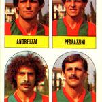 1979-80. Figurine Lampo. Andreuzza-Pedrazzini-Passalacqua-Sorbi