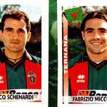 2000-01. Figurine Panini. Schenardi-Miccoli