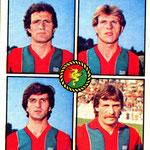 1979-80. Figurine Panini. Andreuzza-Pedrazzini-Stefanelli-Bilardi
