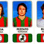 1976-77. Figurine Panini. Caccia-Pezzato-Bianchi