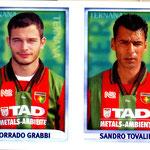 1998-99. Figurine CALCIO MERLIN. Grabbi-Tovalieri