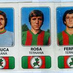 1976-77. Figurine Panini. De Luca-Rosa-Ferrari