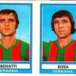 1973-'74. Figurine Panini. Benatti-Rosa