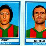 1973-'74. Figurine Panini. Gritti-Crivelli