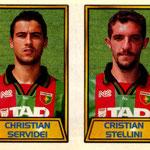 1999-00. Figurine CALCIO MERLIN. Servidei-Stellini