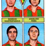 1971-72. Figurine Panini. Mastropasqua-Rosa-Marinai-Valle