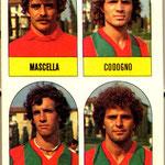1979-80. Figurine Lampo. Mascella-Codogno-Ratti-Legnani
